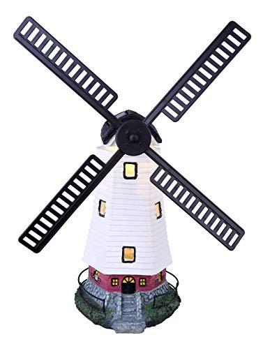 Hohe Garten (Solarleuchte Garten für Außen Windmühle Solarlampe Gartenlampen Solar (Dekoleuchte, LED, Höhe 46 cm, Bunt))