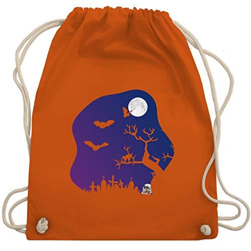 gruselig Totenkopf Mond - Unisize - Orange - WM110 - Turnbeutel & Gym Bag ()