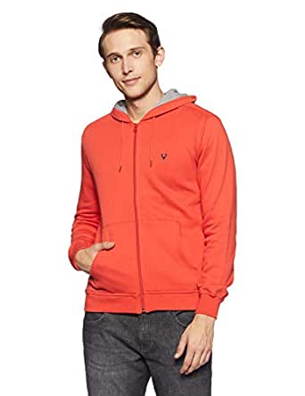 Allen Solly Men's Sweatshirt (ASSTORGPS98844M_Orange 17-1558 TCX)