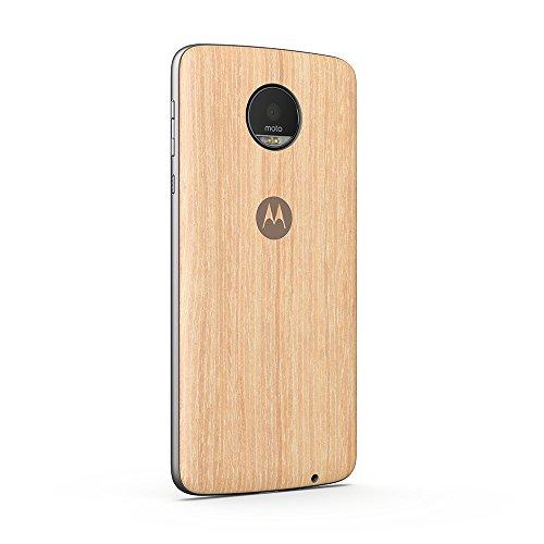 Moto Style Shell Schutzhülle (geeignet für Moto Z & Moto Z play) washed oak wood