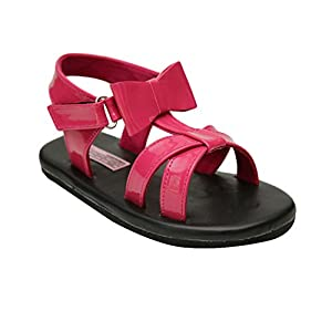 D'chica Fancy Faux Leather Chic Diva Sandals For Girls