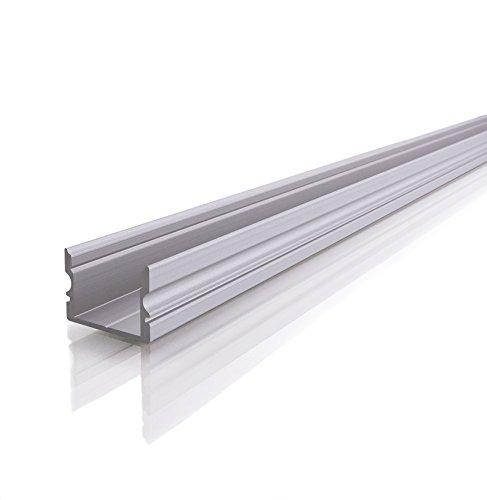 Reprofil au 02-15elevato profilo a U per 15-16,3mm LED Stripes, anodizzato, 1000mm, argento opaco 970160