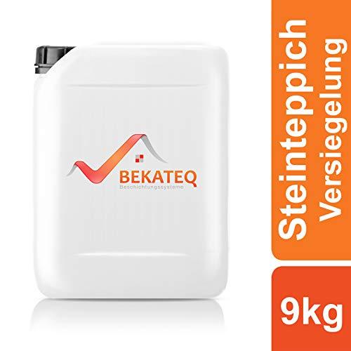 BEKATEQ BK-630EP Steinteppich Versiegelung, 9kg farblos, 2K Epoxidharz Bodenversiegelung Steinboden Schutz