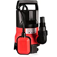 mymotto Energy Sauver pequeña casa limpia jardín de bomba de agua sumergible potente 400W, 8000l/H, rojo