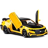 MINIAUTO 1: 32 Scale Chevrolet Camaro Pull Back Alloy Metal Diecast Car Model with Door Open, Sound Light Metro Toys…