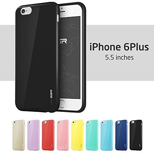 Electronic Silk Road iPhone 6Plus custodia, iPhone 6s Plus custodia, Esr TPU bumper custodia cover per 14cm iPhone 6Plus/6s Plus (Mysterious Black)