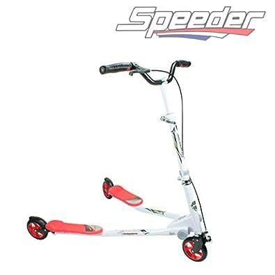 Trottinette Speeder à 3 roues maxi enfants de plus de 8 ans rouge