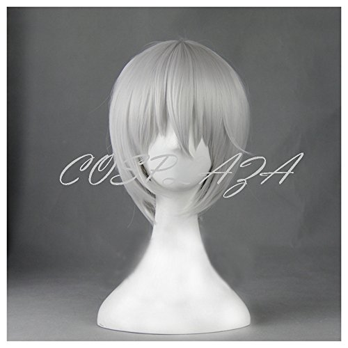 splay Wig Kamisama Love Kiss Tomoe kurz Silber Weiß Halloween Haar (Kiss Halloween Party)