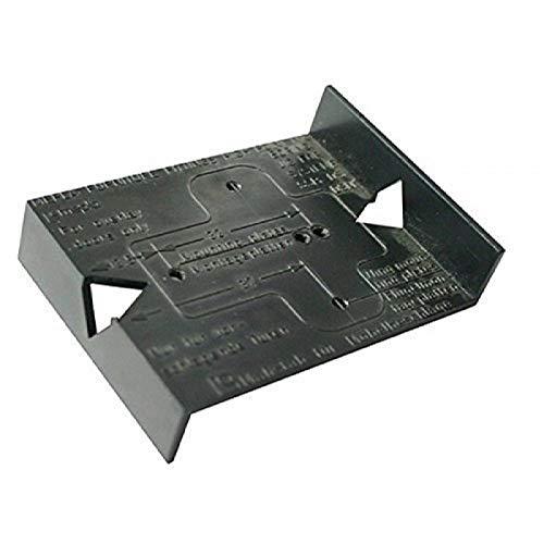 Gedotec Bohrschablone Topfband Bohrlehre Möbelscharnier BLACK JIG | Schablone für Lochreihe mit 32 mm Raster | Kunststoff schwarz | 1 Stück