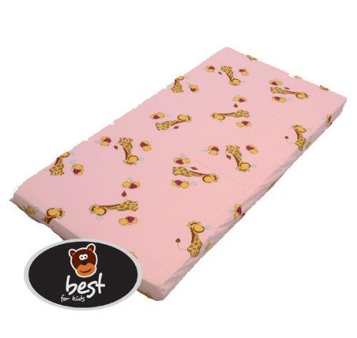 Best For Kids Kinderbettmatratze, Babymatratze 60x120 cm Kinder Rollmatratze 5 cm aus 100% Baumwolle (rosa)