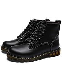 5ccba090982b Shukun Herren Stiefel Martin Stiefel Herren Herbst Pu Stiefel mit Farbe  Spitze Winter Cotton Warm Tooling