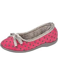 Ladies 'Tilly' Ligero Bootie Zapatillas, Color Rosa, Talla 5 UK