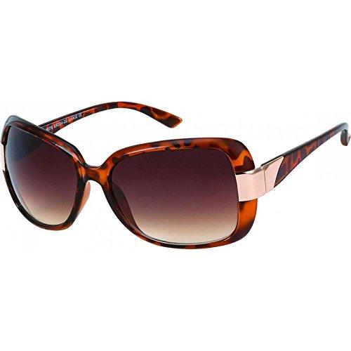 Lunettes de soleil chic-Net 400UV dames concepteur roses métalliques verres teintés style glamour à motifs o6Pjy