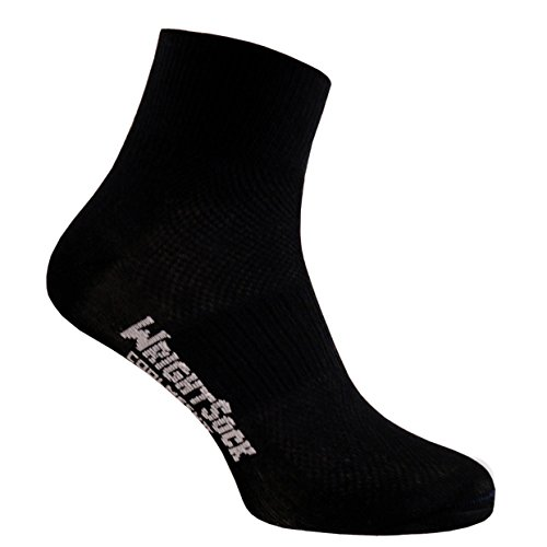 Wrightsock Coolmesh II Quarter Socke Black Black