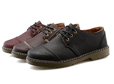 Oxford Turnschuhe Athletic Lace-up Breathable Pure Leder Herren Classic Smart Kleid Beiläufige Canvas Schuhe EU Größe 39-44 , brown , 43