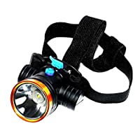 YEXIN Head Torch,Waterproof Head Torches, 90 Degree Angle Adjustable Led Headlamp,2 Modes Light Weight Led Torch for Camping, Running, Hiking, Kids, Walkers Head light