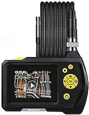 "Blueskysea Digital Endoscope Waterproof Inspection Camera Handheld Borescope Snake Camera with 11.48ft/3.5m Semi Rigid Tube 2.7"" LCD Color Screen Dia 0.32inch / 8.2mm DVR Video Recording 360 Degree"
