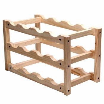 Moderne Holz-finish Schrank (Weinregal aus Holz Weinregale Weinregal Continental minimalistischen Dekorationen Wine Rack Wohnzimmer Home real Holz 12 Flaschen Natural Finish, Holz)