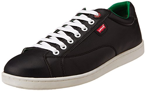 Levis Men's Tulare Low Lace Black Leather Sneakers – 9 UK 41V eh67vTL
