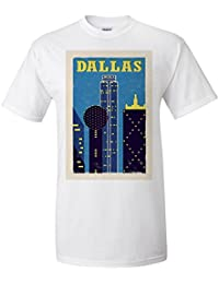 Dallas, Texas - Woodblock (Premium T-Shirt)