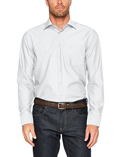Seidensticker Herren Businesshemd Modern Langarm mit Kent-Kragen bügelfrei Weiß (white)