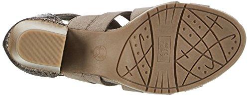 Jana Damen 28307 Offene Sandalen mit Keilabsatz Beige (LT. TAUPE 347)