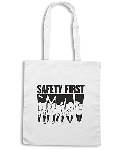 T-Shirtshock - Borsa Shopping WC1067 Safety First Maglietta Bianco