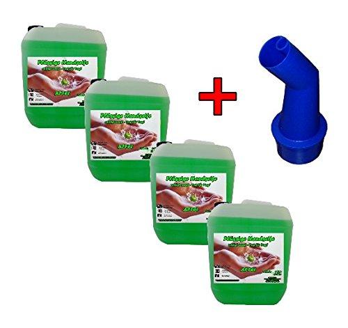 4x 5 L Cremeseife Handseife APFEL + Ausgießer Flüssigseife extra mild Seifenspender