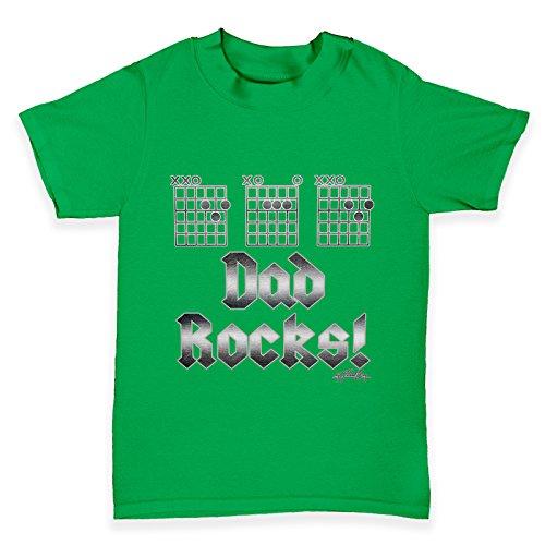 Dad Rocks Tee (TWISTED ENVY Baby T-Shirt Dad Rocks Fretboard Print 12 - 18 Months Gr?n)