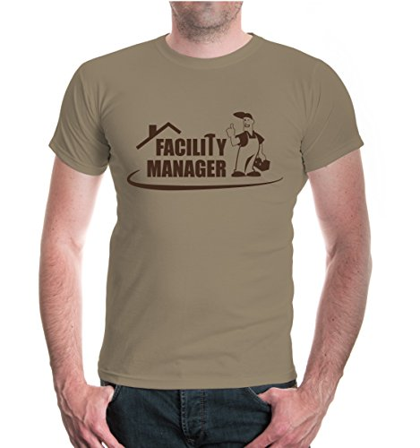 buXsbaum® T-Shirt Facility Manager Khaki-Brown