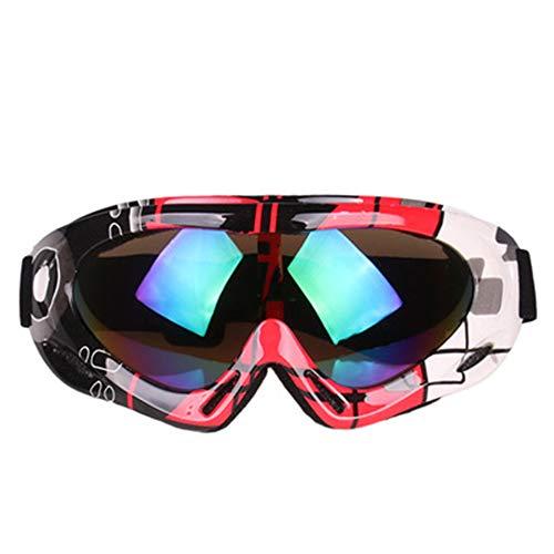 KTCLE Schwimmbrillen FüR Erwachsene Brillen-Windschutzscheibe, Bunte Skischicht Der Erwachsenen Kinder Schneesichere Off-Road-Motorradspiegel Outdoo