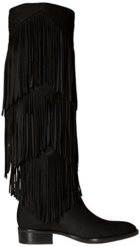 Stivale Sam Edelman Pendra in camoscio nero con frange Nero