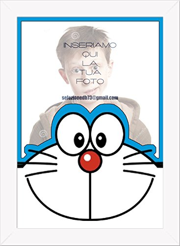 Póster con marco Doraemon personalizado 2