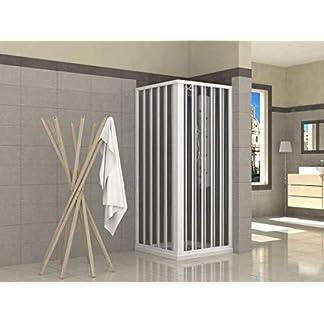 Mampara de ducha plegable de PVC, 2 lados, 70 x 70 cm
