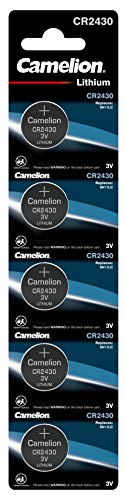 Camelion 13005430 Lithium Knopfzelle CR2430 ,5er-Pack, silber
