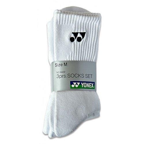 Yonex 8422 - Confezione da 3 paia di calzini sportivi, misura 39,5-44