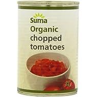 Suma Organic Chopped Tomatoes 400 g (Pack of 12)