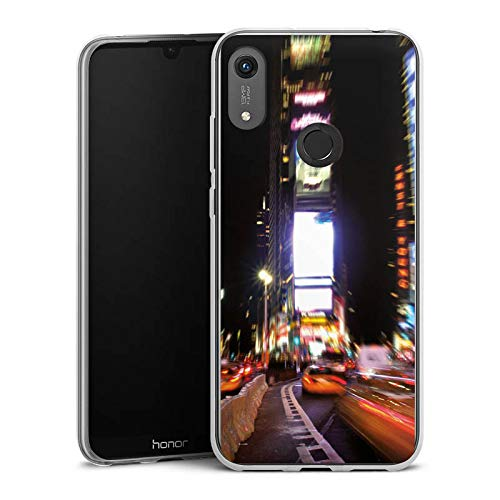 DeinDesign Slim Case kompatibel mit Huawei Honor 8A Silikon Hülle Ultra Dünn Schutzhülle Times Square Broadway New York City