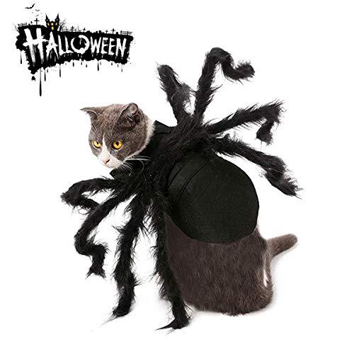 MMNM Halloween Spider Pet Kostüm, Halloween Cosplay Kostüme Für Hund, Katzen Dress Party Dress Up Horror Simulation Plüsch Spider - Spider Beine Kostüm Hunde