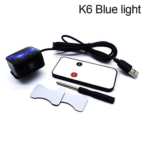 yangGradel Romantico Auto Tetto Star Proiettore Luci, Auto Atmospheres Lampada Interno Ambiente Luce Notturna LED Stella Proiettore Decorazione - K6 Blue Light