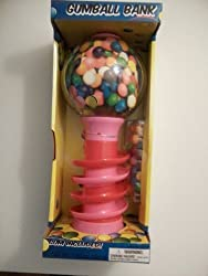 Dubble Bubble 18 Inch Spiral Fun Gumball Machine Bank Pink By Shermag