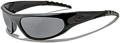 Xloop Gafas de Sol - Deporte - Running - Trail - Mtb - Esquí - Snowboard - Moto - Ciclismo - Kitesurf / Mod 2610 Negro