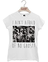Batch1 I Aint Afraid Of No Ghost Ghostbusters Halloween Fancy Dress Womens T-Shirt