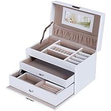 Songmics Portagioie Scatole per gioielli Scatola Custodia box Scatola JBC126W