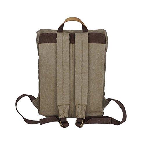 469ad99523bd4 ... LF F Retro Leinwand Leder Rucksack Vintage Rucksack Trekking Freizeit  Schultertasche Handtasche College Daypack Satchel Laptop ...