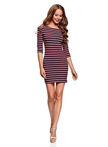 oodji Ultra Damen Baumwoll-Kleid Basic, Mehrfarbig, DE 36 / EU 38 / S