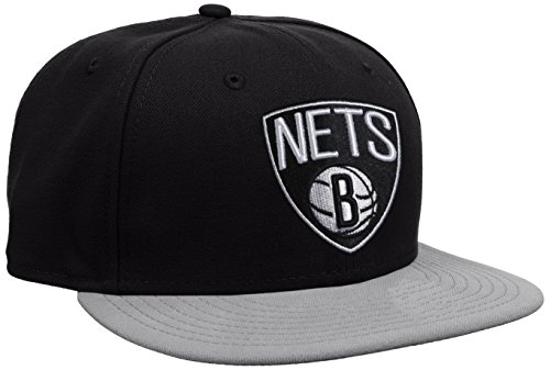 New Era Cap NBA Basic Brooklyn Nets, Black, 7 3/8, 10862335 (Cap Hut Nba)