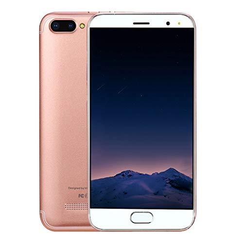 DingLong 5,0-Zoll Dual-Karten Smartphone Ohne Vertrag, Android 6.0 VOLLER Schirm GSM/WCDMA-Touch Screen WiFi Bluetooth GPS 3G Anruf-Handy Mehrsprachige Unterstützung (Rosa) 3g Touch Handy