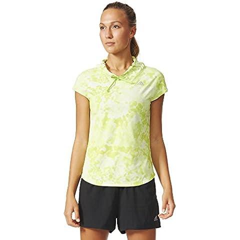adidas Mujer Sin Mangas unidad–Sudadera para mujer kanoi Run Short Sleeve W Verde verde claro Talla:30