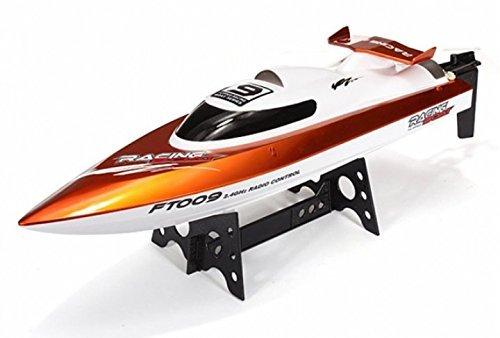 High-Speed Rennboot 46 cm, bis 30 km/h, mit Rollenfunktion, 2.4 GHz 4-Kanal, Li-Poly-Akku 1500 mAh, in Grün oder Orange
